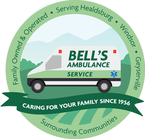 Bells Ambulance Serving 60 years logo